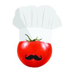 تهیه غذای گوجه